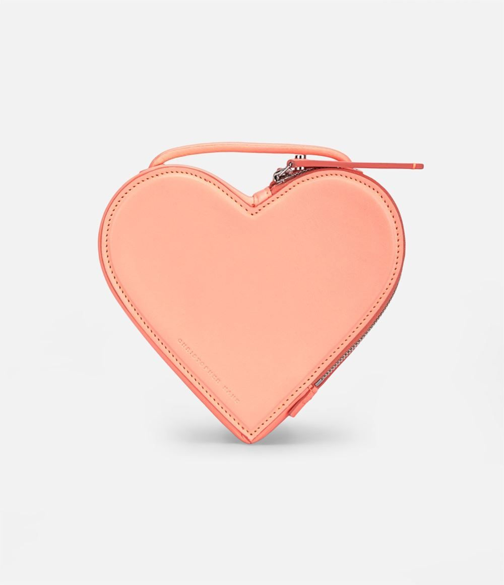 heart shaped shoulder bag