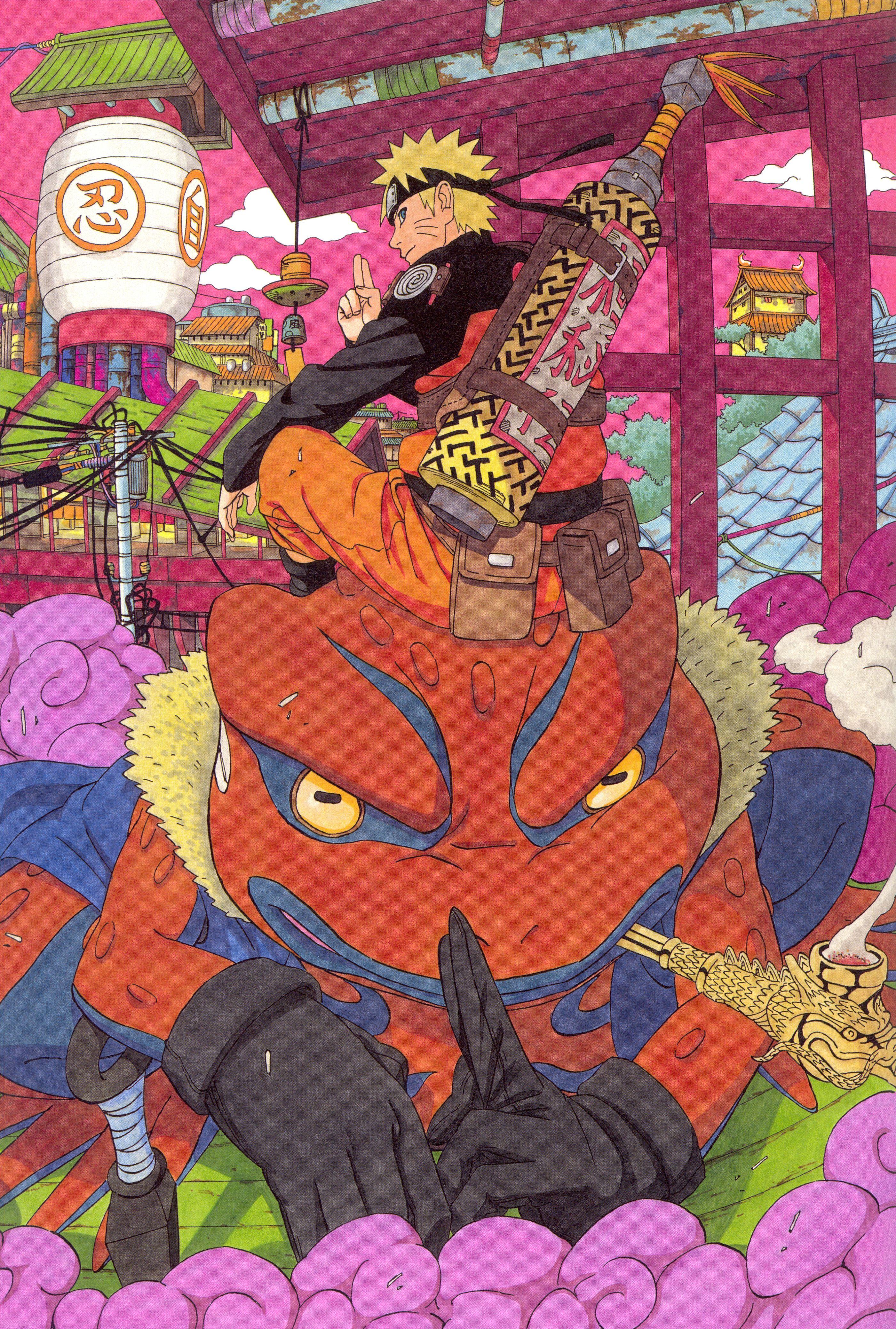 Masashi Kishimoto Naruto Naruto Illustrations Gamakichi Naruto Uzumaki Anime Anime Naruto Naruto