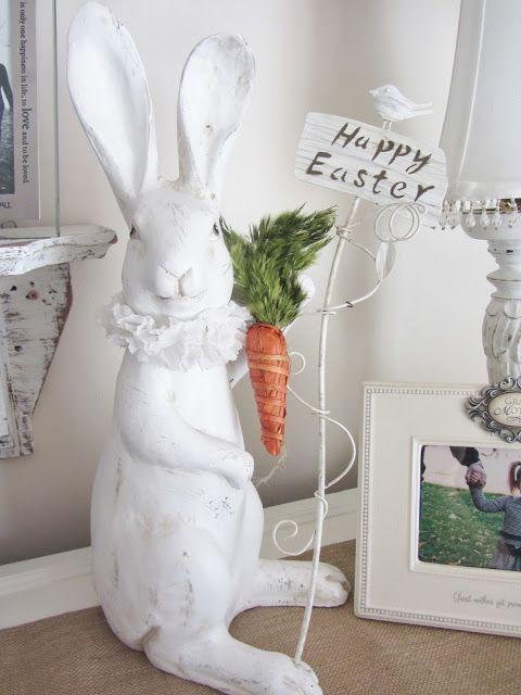 Shabby Chic Easter Egg-Peter Peter Carrot Eater