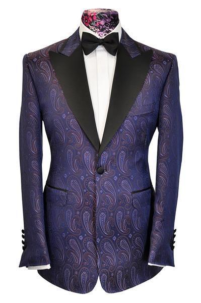 The Morgan Purple Base Multi Coloured Paisley Dinner Jacket