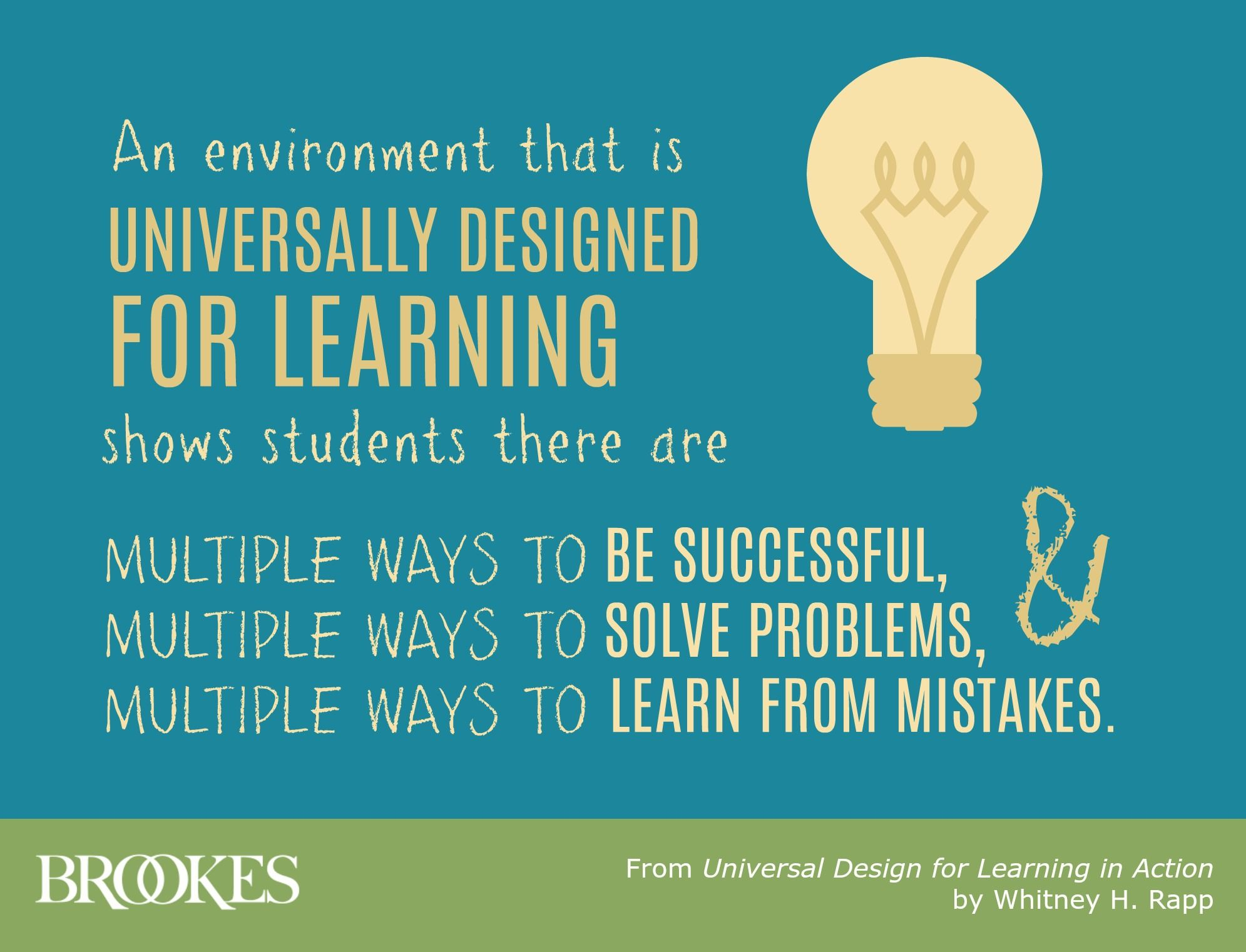 Udl Quotes An Environment That Is Universally Designed For