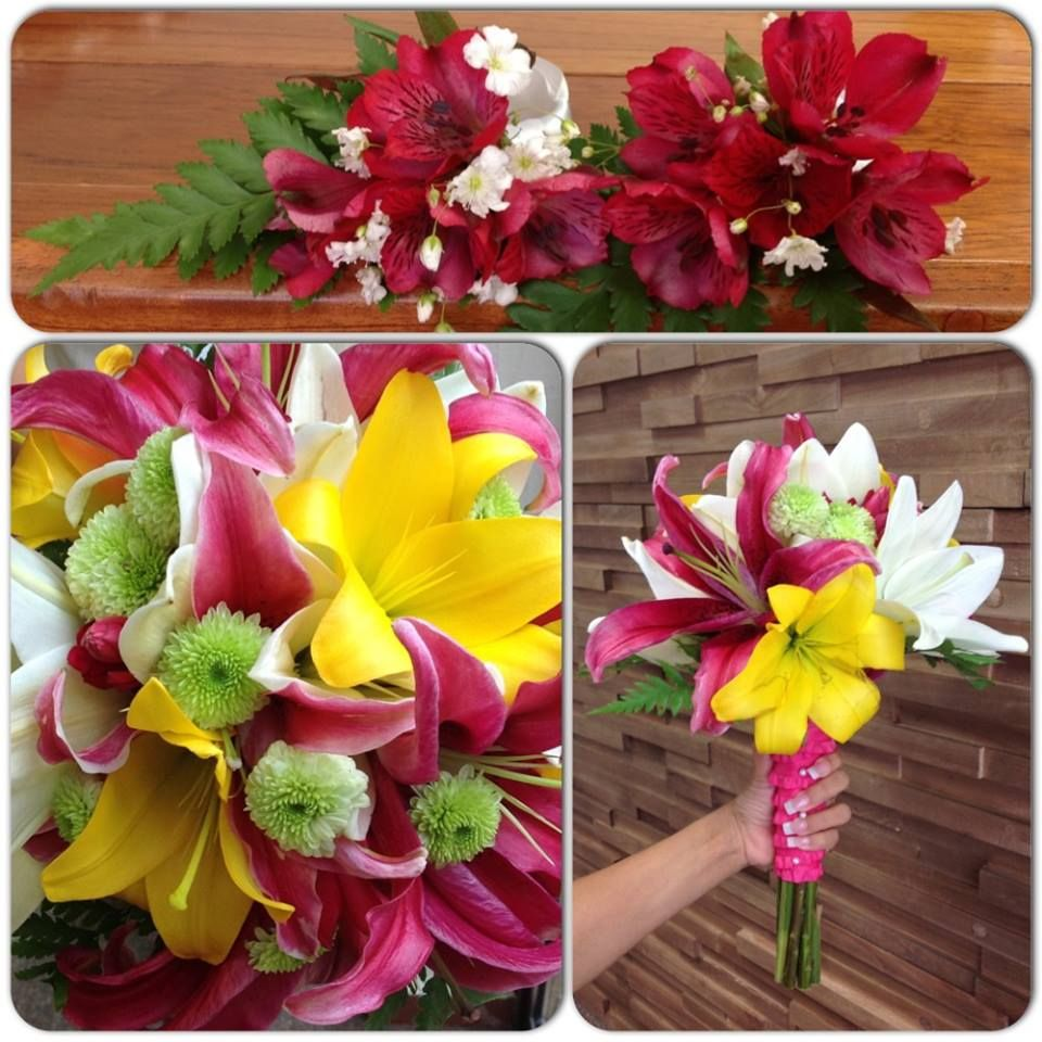 Beautiful flowers nice wedding bouquet marriage sandos