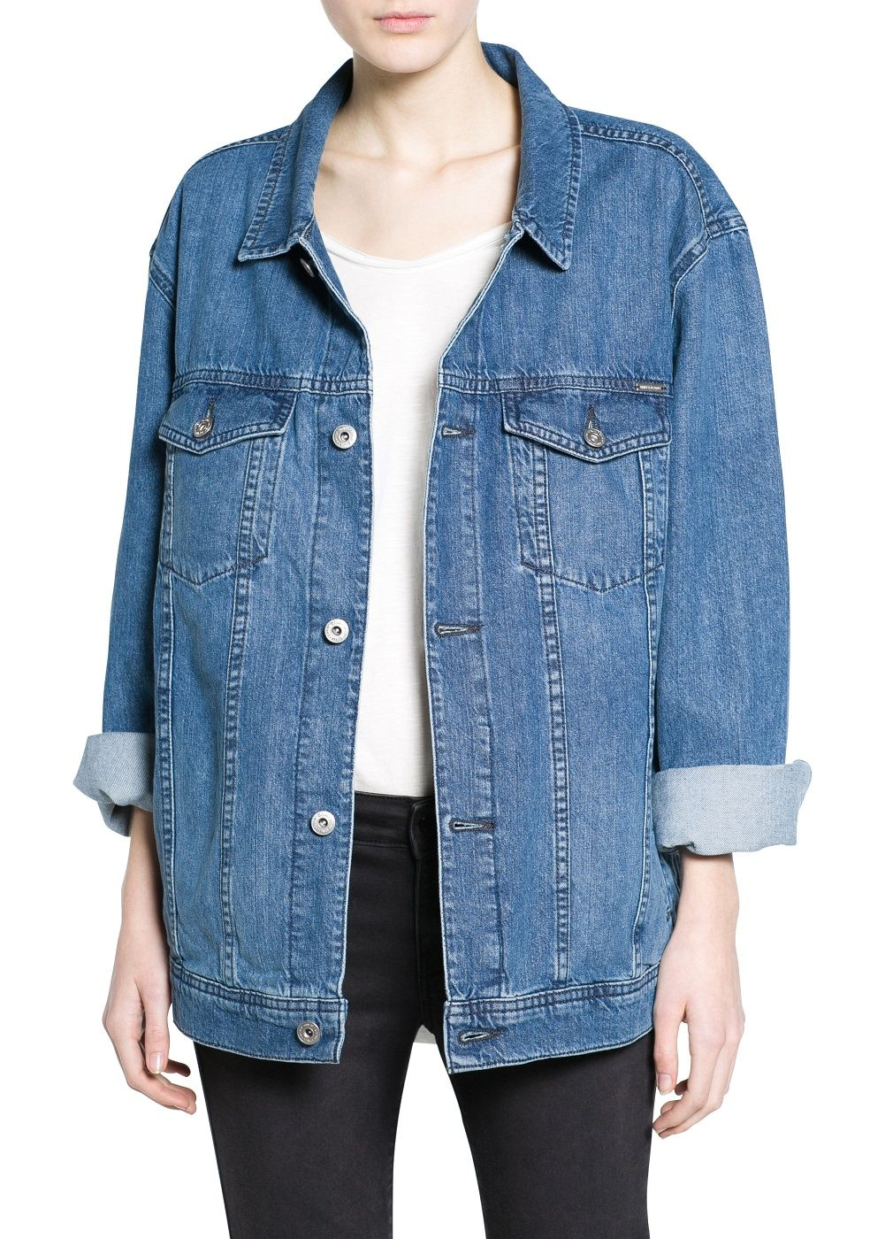 How to Wear an Oversize Denim Jacket | Oversized denim jacket ...