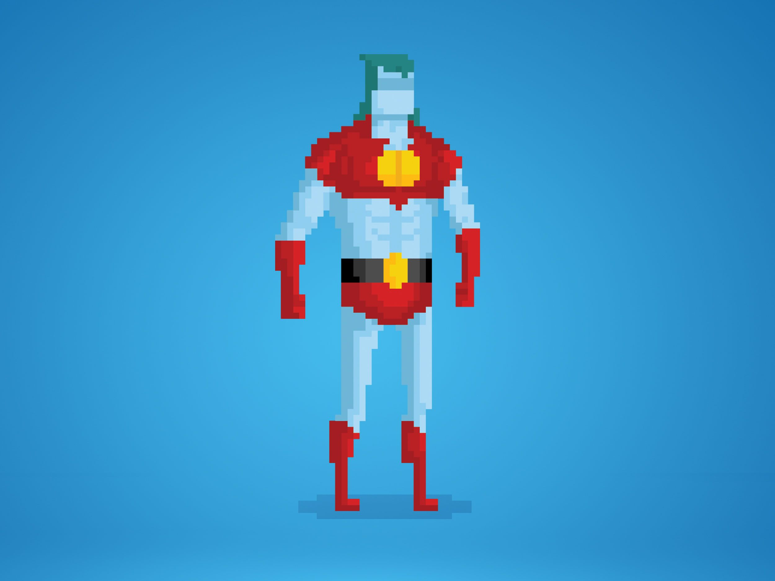 Your Greatest Childhood Heroes, Rendered in Delightful 8-Bit Pixels | Captain Planet  by Anthony Barros  | WIRED.com
