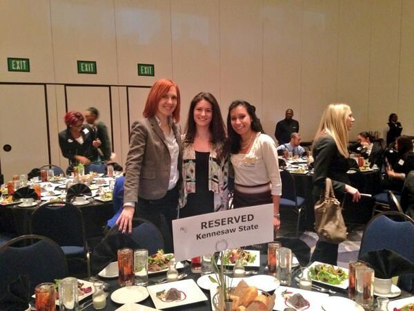 MAIGC students representing the program at the PRSA annual event the Real World 2014.