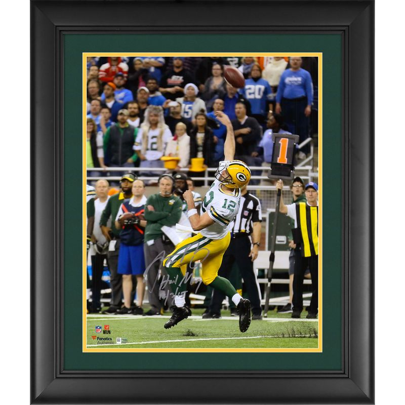 Aaron Rodgers Green Bay Packers Fanatics Authentic Framed ...