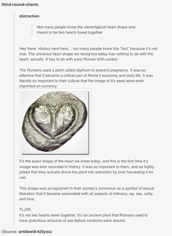 The History Of The Heart Symbol Ancient Rome Birth Control