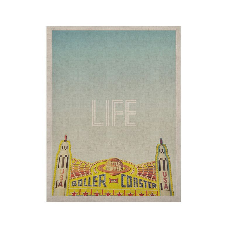 """Libertad Leal """"Life is a Rollercoaster"""" KESS Naturals Canvas (Frame not Included)"""