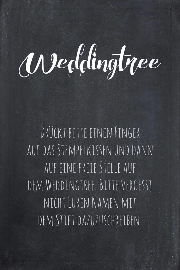 Weddingtree Schild für die Hochzeit im Tafel-Look. Finde hier viele ...