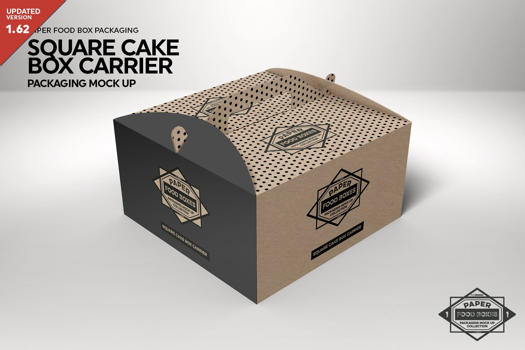 Square Cake Carrier Packaging Mockup Ad Affiliate Presentations Perfect Psd Work Packaging Mockup Free Packaging Mockup Design Mockup Free