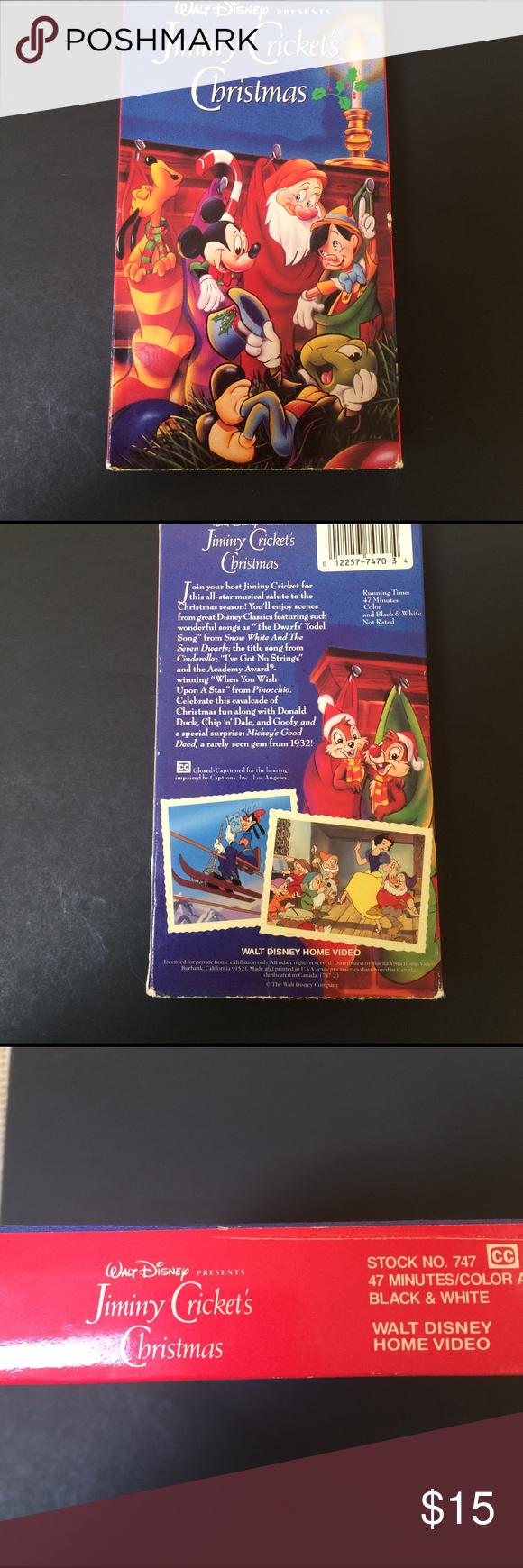 Vhs Disney Jiminy Criccket\'s Christmas | My Posh Closet | Pinterest ...