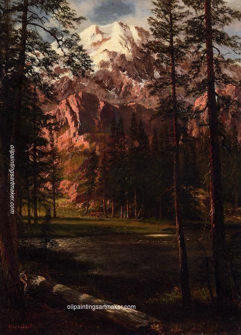 Albert Bierstadt Mountain Lake, painting