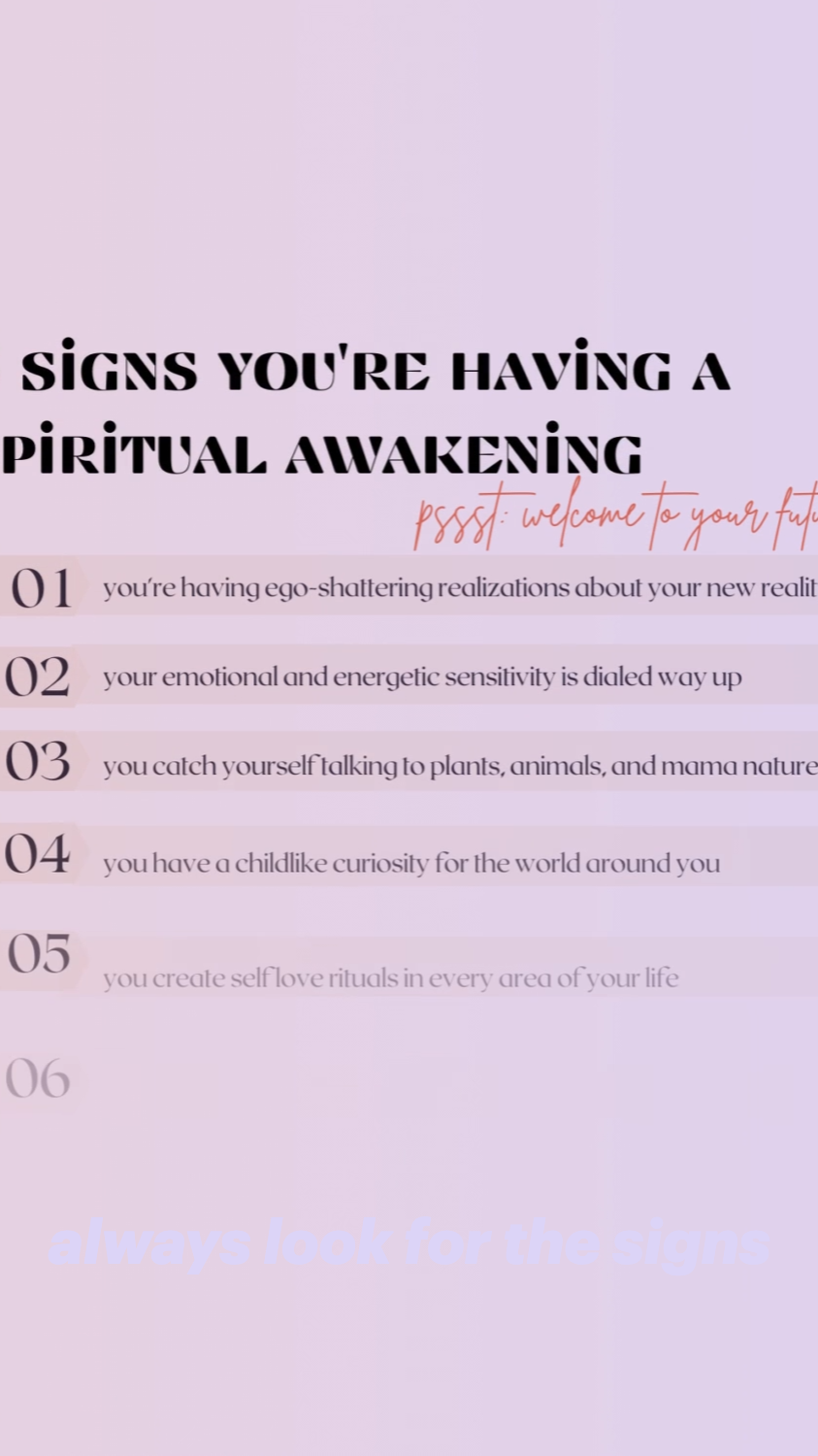 always look for the signs