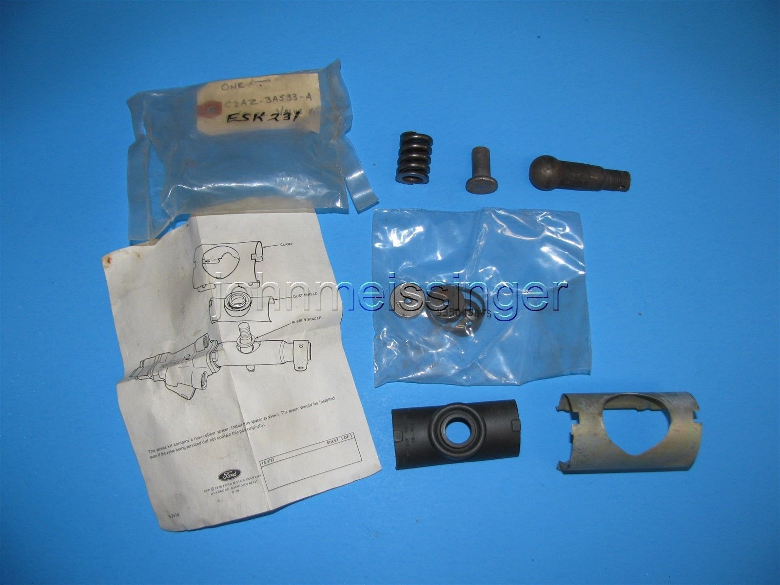 Nos 1964 1965 1966 Ford Mustang Power Steering Ball Stud Repair Kit C2az 3a533 A Ebay