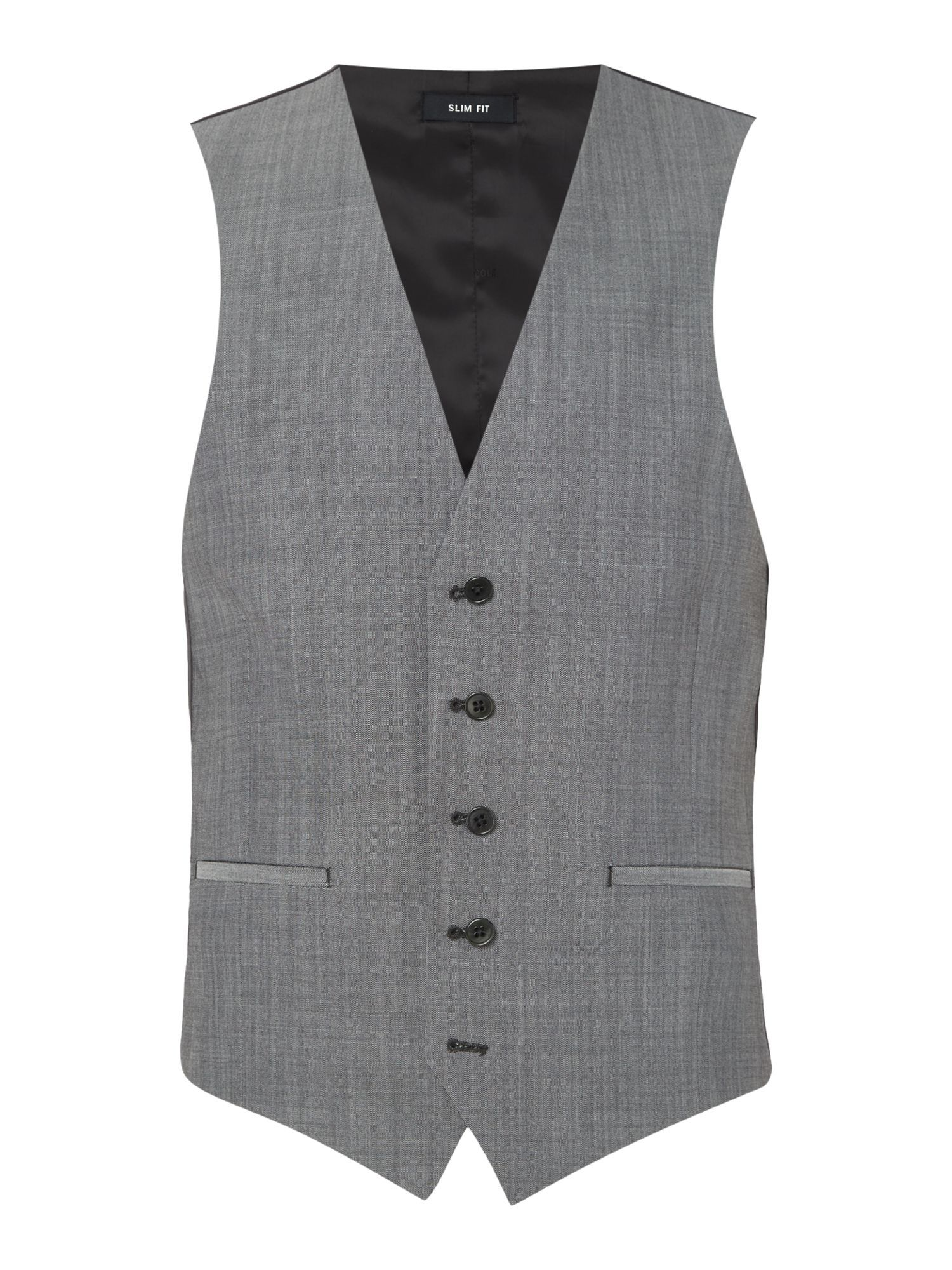 Buy: Men's Kenneth Cole Mercer Slim Fit Tonic Suit Waistcoat, Grey ...