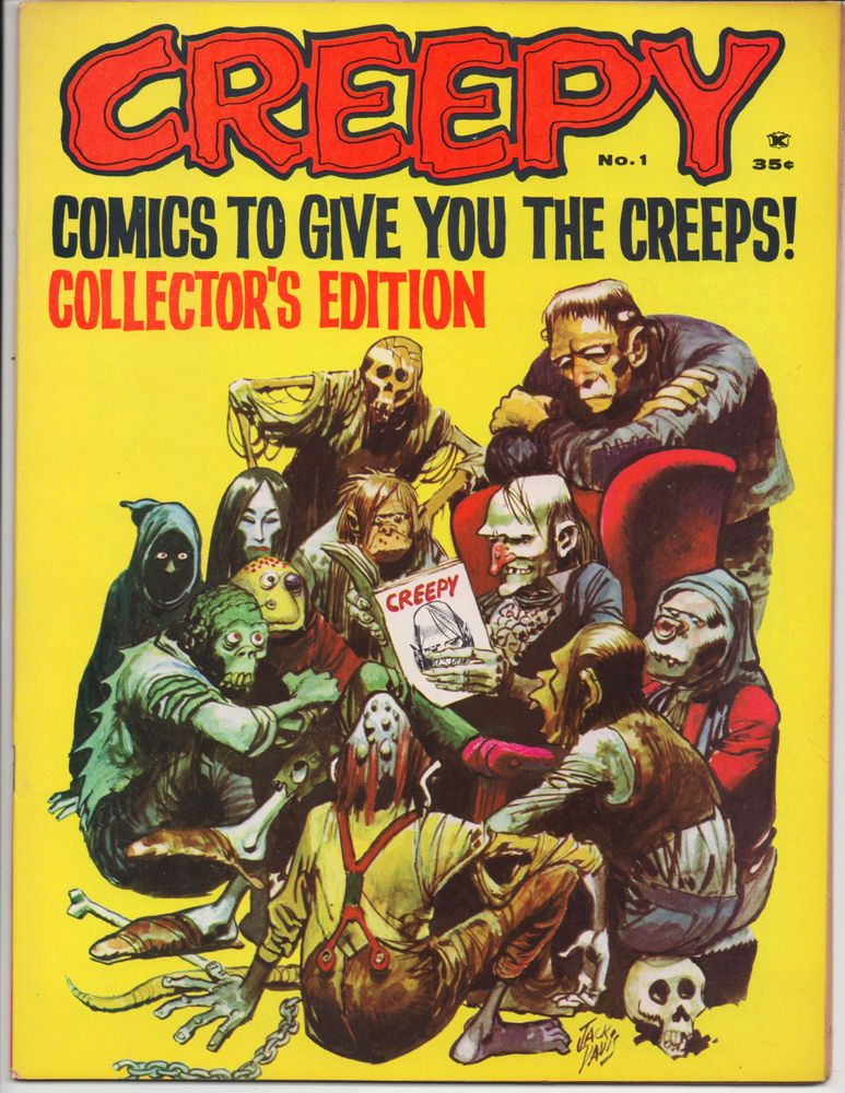 CREEPY MAGAZINE #1 1ST APPEARANCE Uncle Creepy Warren Jack Davis 1964 VF