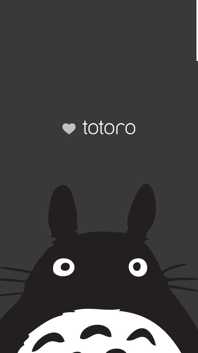 Totoro iPhone 5 background iPhone Wallpaper Pinterest