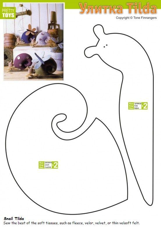 Snail Tilda Patterns | tilda | Pinterest | Schnecke, Schnittmuster ...