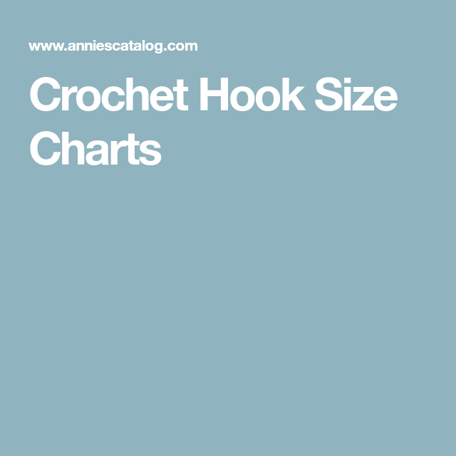 Crochet Hook Size Charts | Crochet | Pinterest