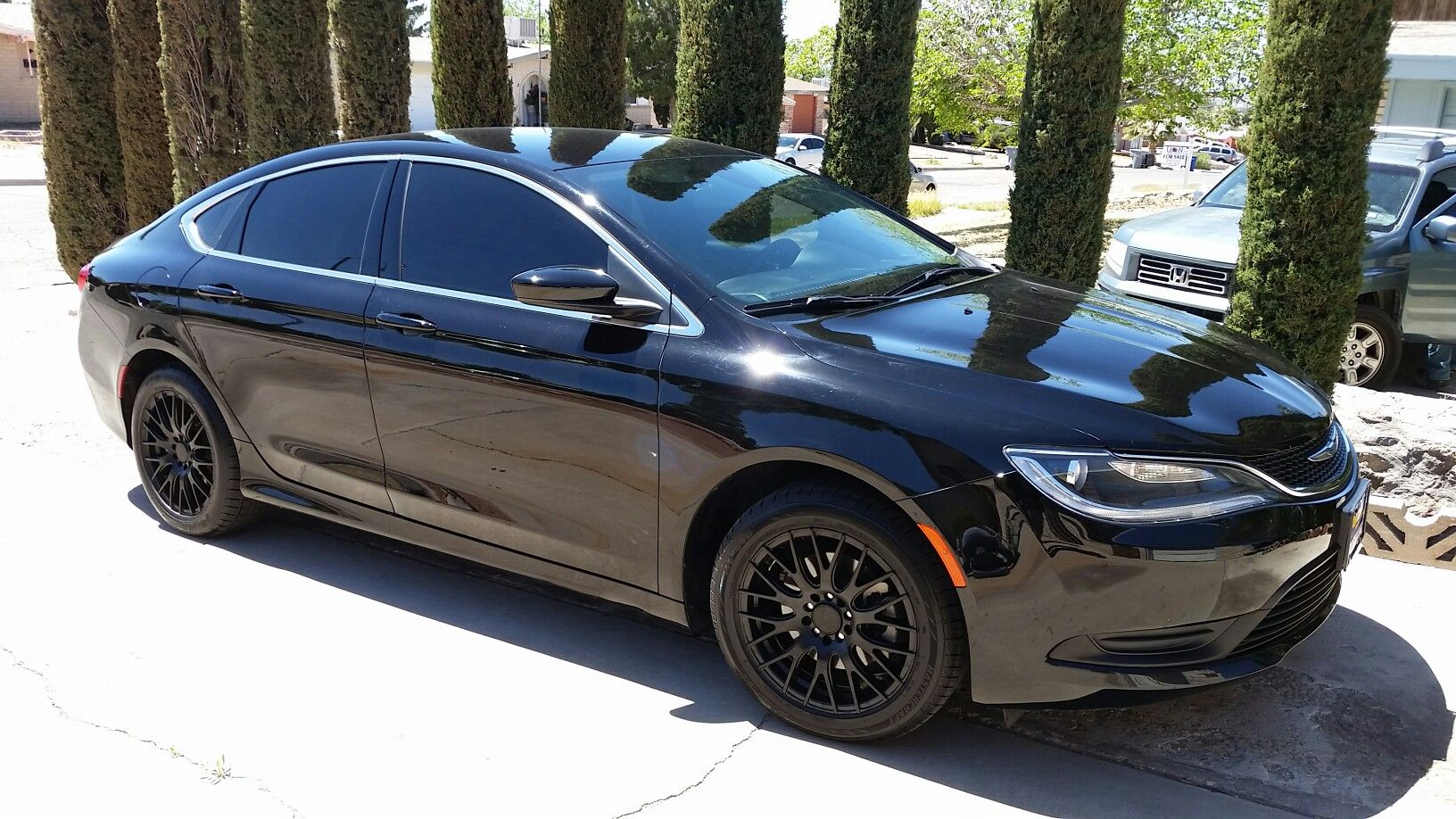 2015 Chrysler 200 Tinted Windows And Black Rims With Images