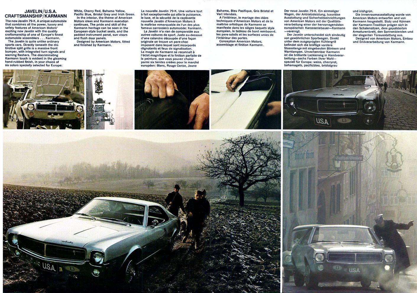 1969 Javelin Karmann Muscle Car Ads Amc Javelin Pony Car
