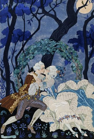 Amazons  by Georges Barbier Giclee Canvas Print Repro