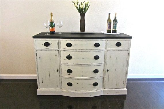 Black and White Drexel Buffet  SOLD by VintageRehabs on Etsy, $450.00