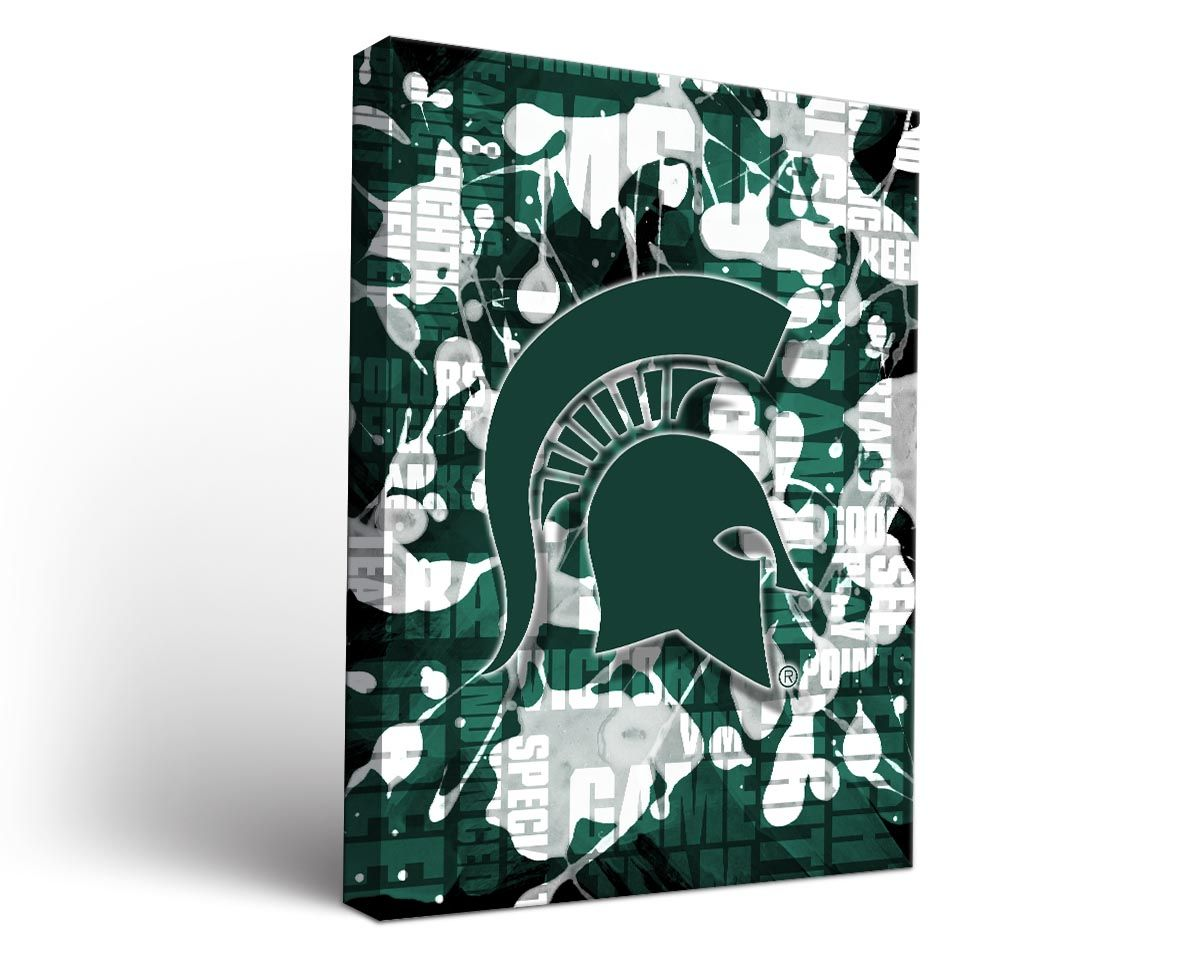 Michigan State Spartans Canvas Wall Art Fight Song Design 1423066291 Jpg 1200 954 Canvas Wall Art Canvas Prints Art