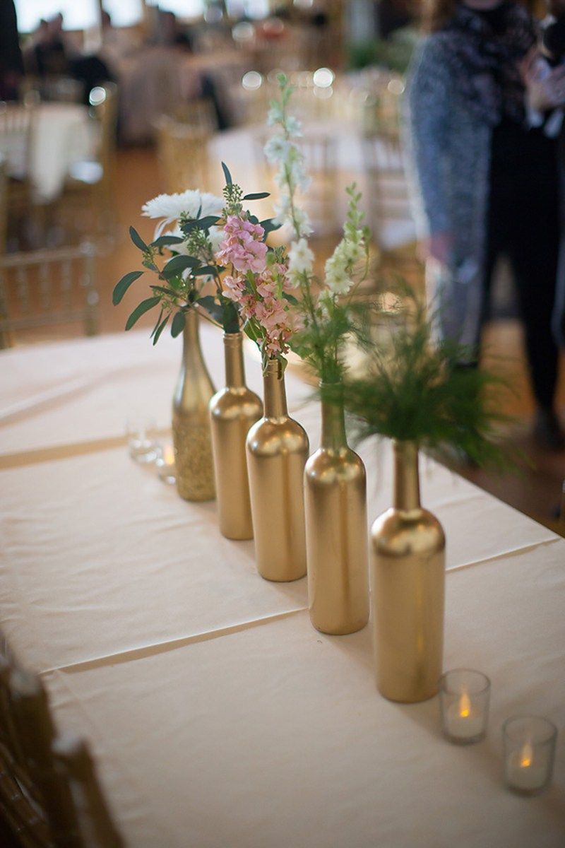 Wedding decoration ideas at home  carat style this gold wedding decor is the real deal  Gold
