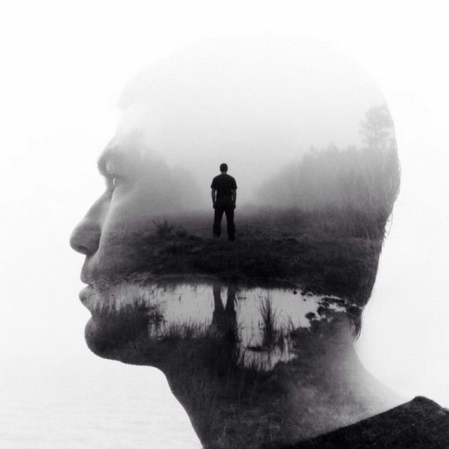 Double exposure photography photo black white lifestyle mood trees in photography photo manipilation pinterest photo black white exposure