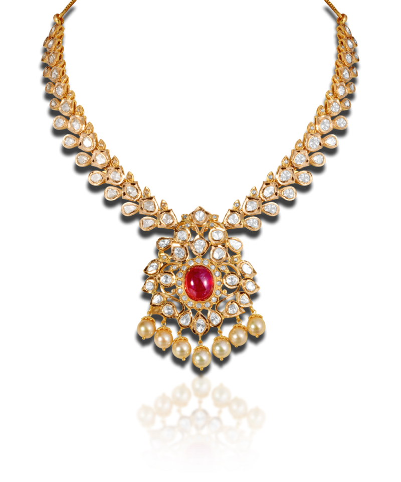 daya diamond uncut aniha necklace jewels k raj gold