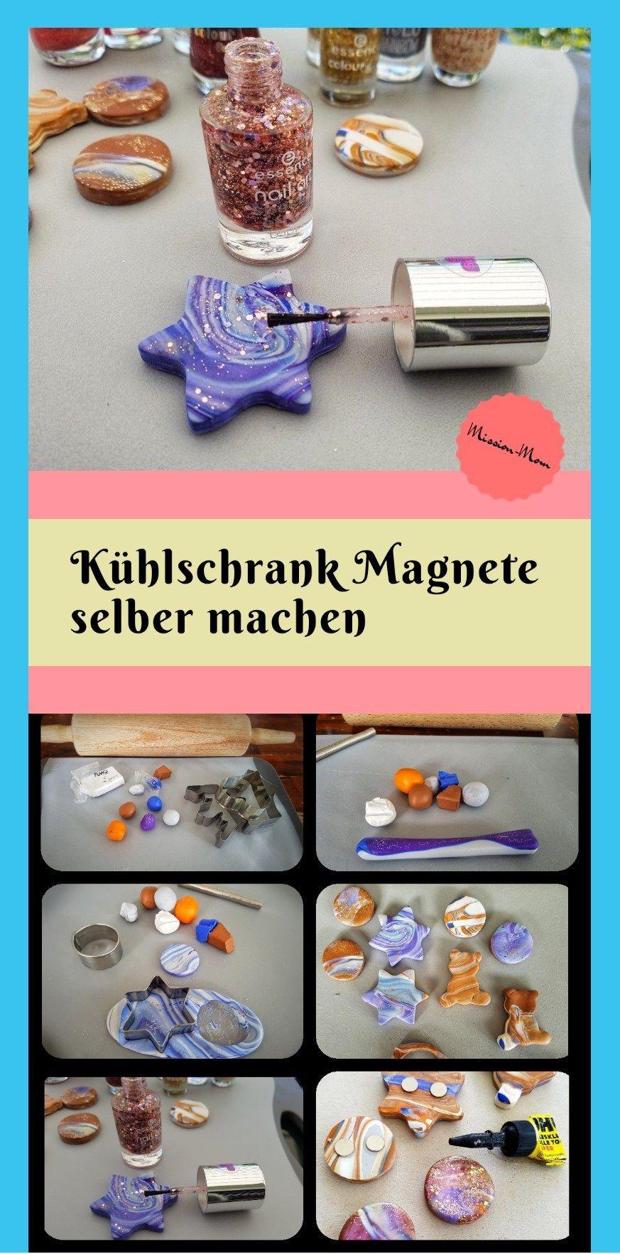 DIY Magnete aus Fimo-ein tolles Geschenk mit Kindern basteln #weihnachtsgeschenkebasteln