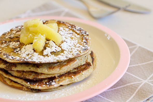 Pineapple pancakes - ananas pancakes www.cookameal.be #pinapple #pancakes #healthy