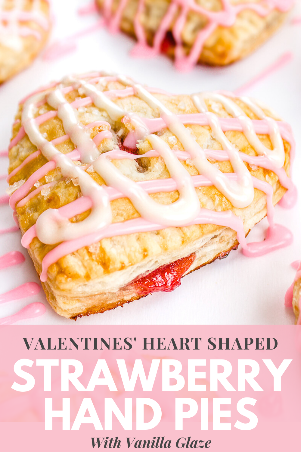 Heart Shaped Strawberry Hand Pies #recipeforpiecrust