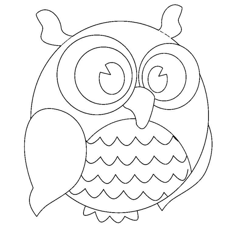 Dessin hibou imprimer et bricolage chouette pour enfants dessin hibou dessiner et dessin - Chouette a dessiner ...