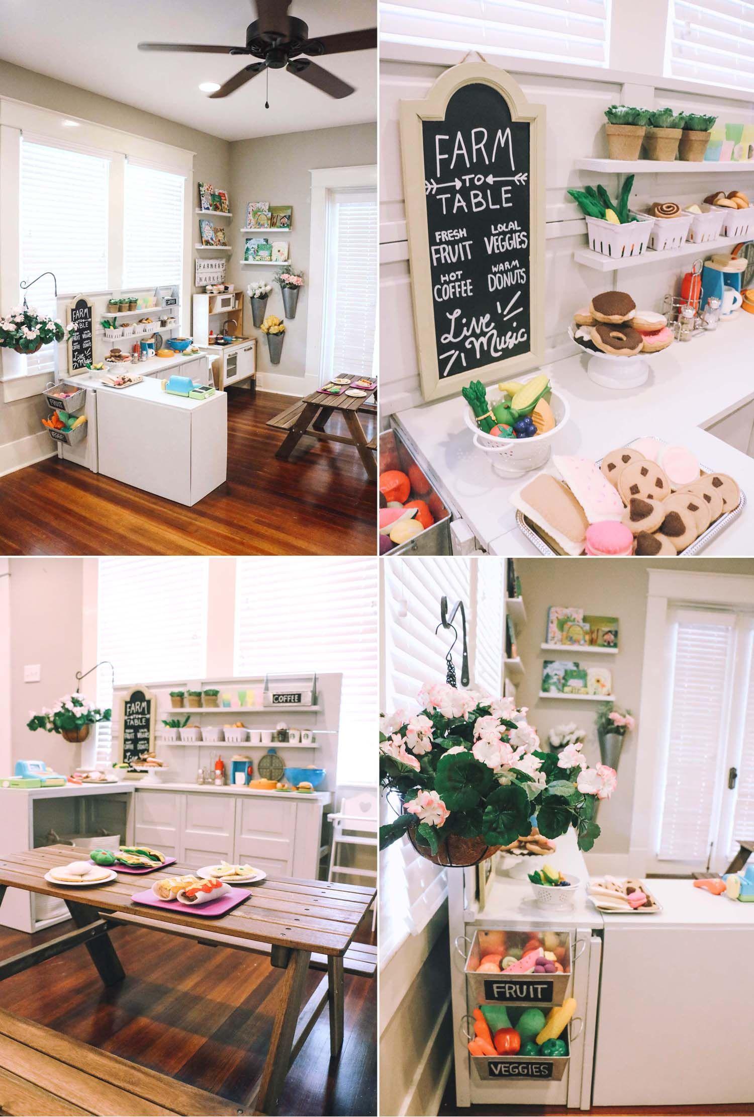 DIY Play Kitchen - Pretend Play Area | Diy play kitchen ...