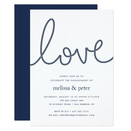 knotted love engagement party invitation invitations custom unique