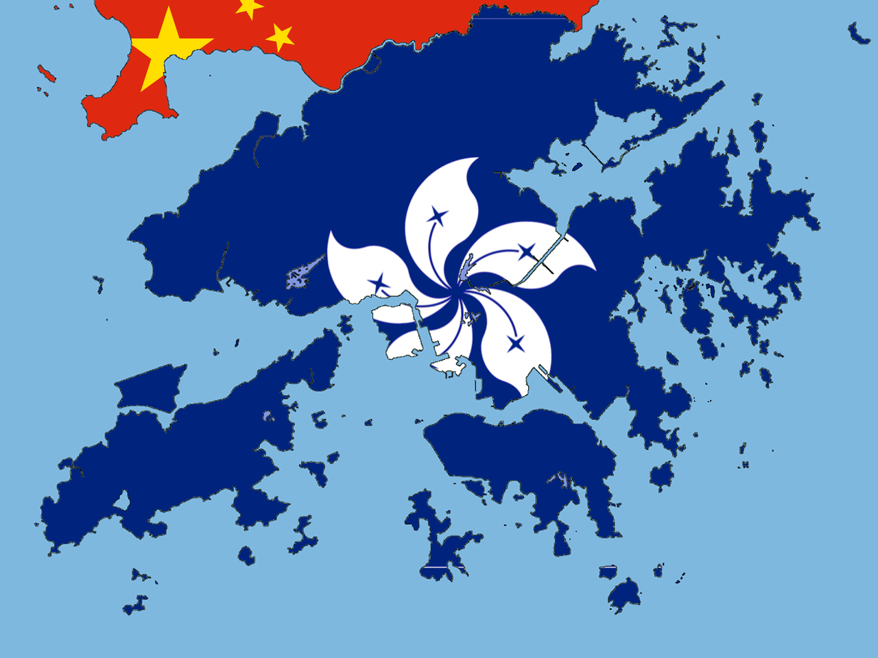 Hong Kong Flag Map Without China S Stars The Flag Hong Kong Flag Hong Kong Map Hong Kong