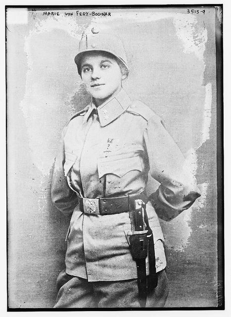 """during WWI, Marie von Fery-Bognar followed her husband into war as a volunteer, and became """"the first and only woman who won the Order of Franz Josef in Austria-Hungary."""""""