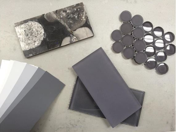 Ceramstone Get A Little Inspired By Outer Space For Any Space Floor One Gris 12x24 Countertop Black Mosaic Granite B Black Mosaic Granite Backsplash Mosaic