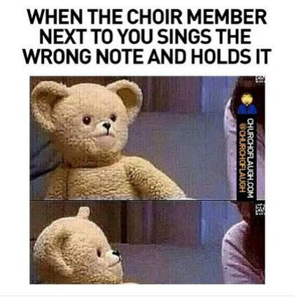 14 Funny Things You Ve Seen If You Ve Gone To A Black Church Courtesy Of Church Of Laugh Choir Humor Choir Memes Music Jokes