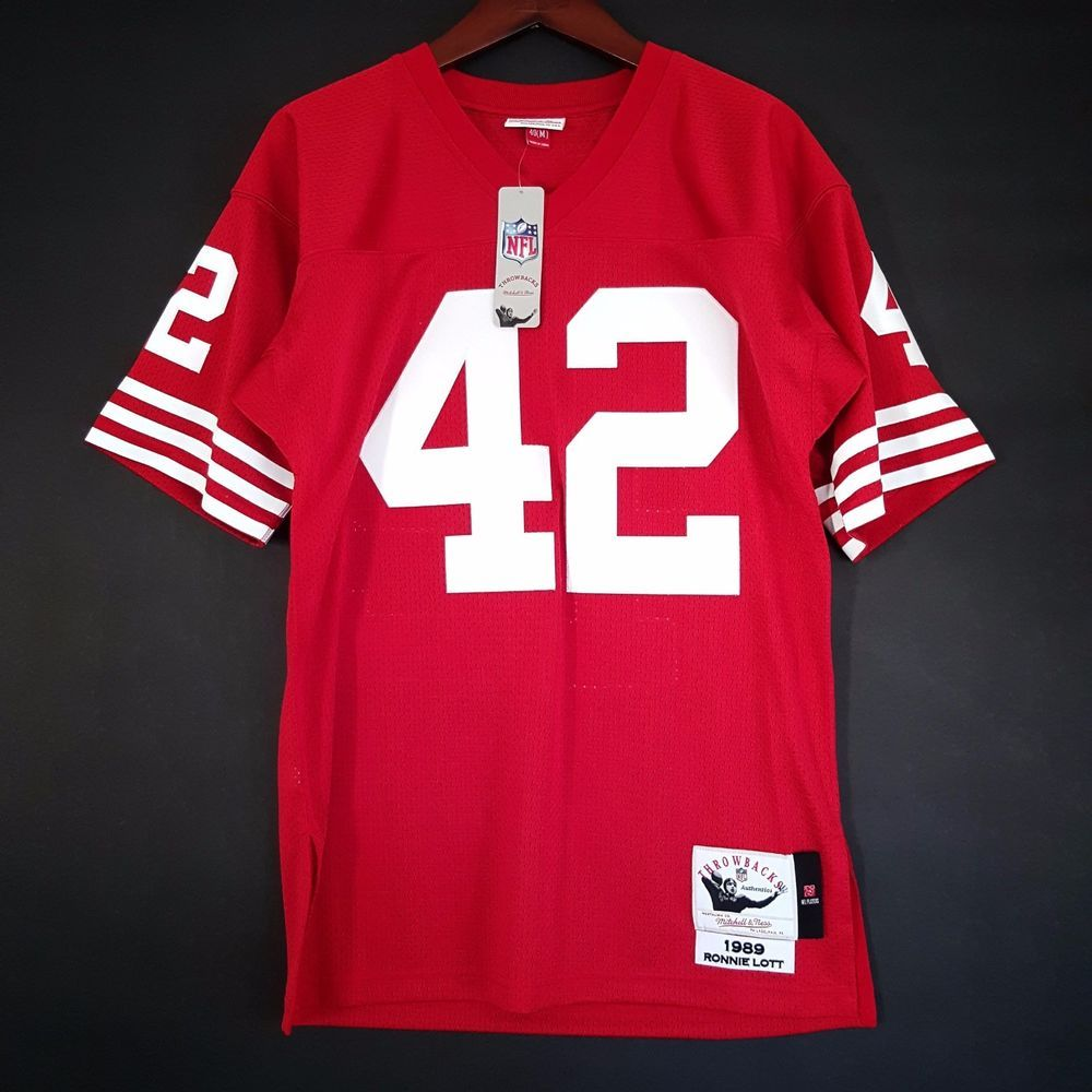 9e64f1c0640 100% authentic ronnie lott 1989 mitchell ness jersey san francisco 49ers 40  m from  170.0