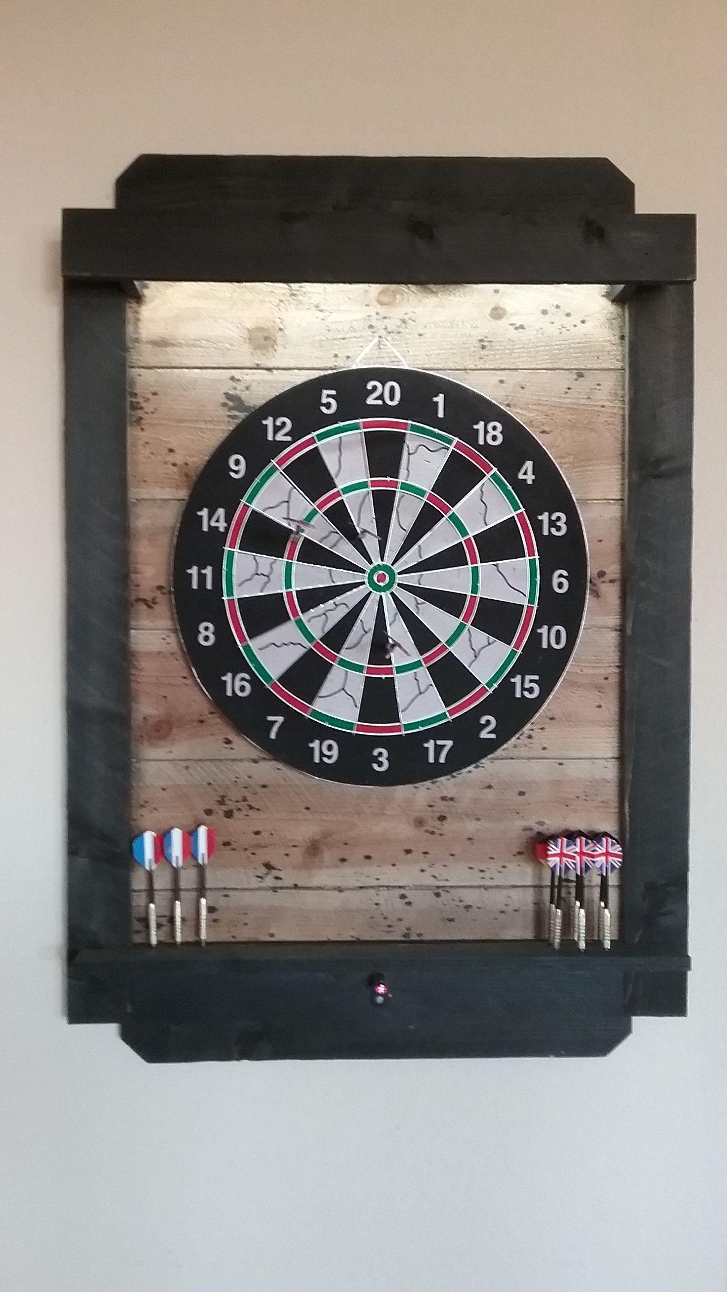 Dartboard Cabinet Led Lights Laser Line Wi Fi Voice App Etsy Dart Board Backboard Dart Board Dart Board Cabinet