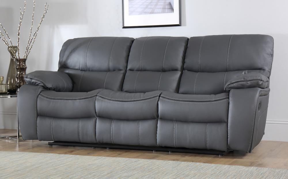 Beaumont Grau Leder Liege Sofa 3 Sitzer Nur 64999 Innerhalb Der