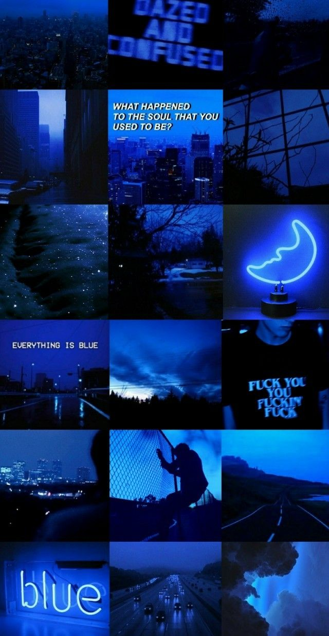 I Love Blue Aesthetic Wallpapers Blue Wallpaper Iphone Black Aesthetic Wallpaper