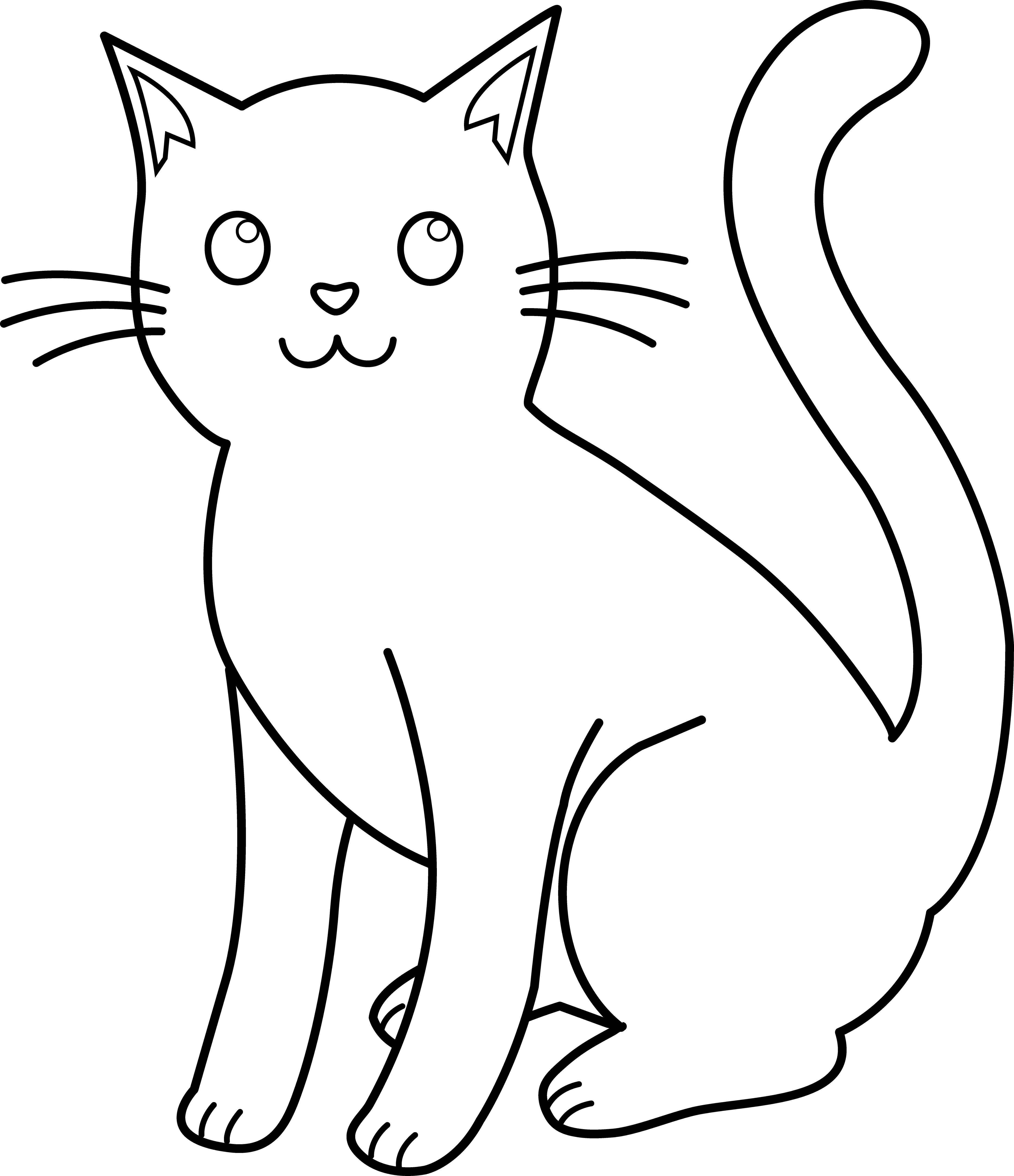 Kitty Cat Line Art For Coloring I Love Cats Cat Coloring Cat Clipart Cat Coloring Page Cats Art Drawing