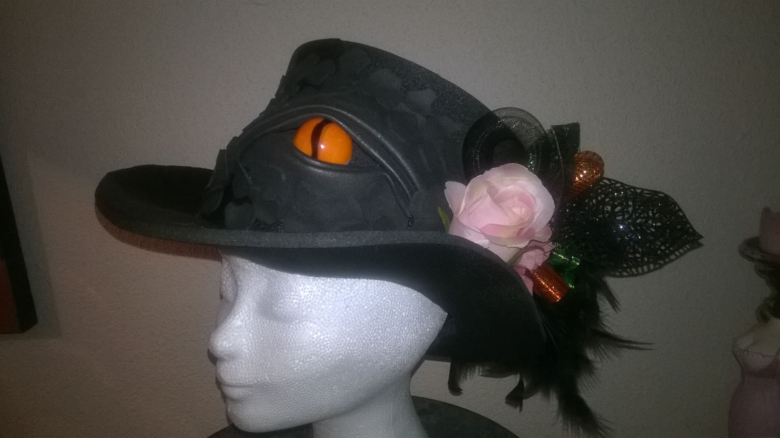 Foam hat made from finest dragonskin, with 3D dragon eye. Made by Lady Mallemour