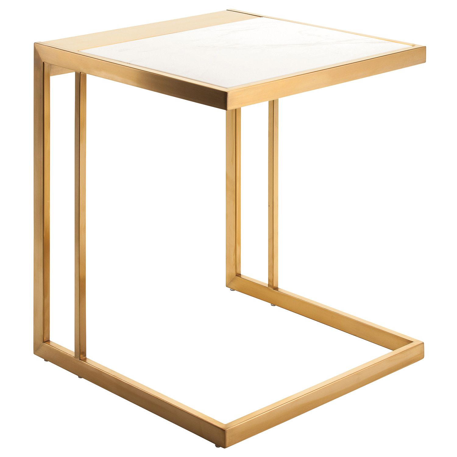Pinterest Stainless Steel Side Table White Marble Side Table Modern End Tables