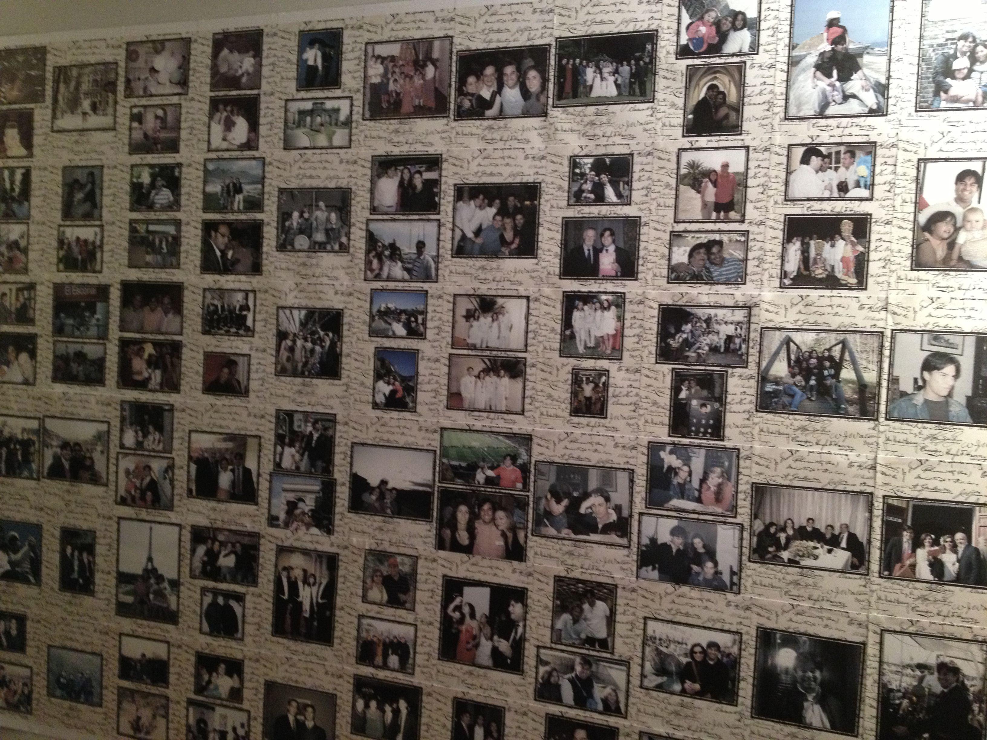 mural de recuerdos para el cumpleaos
