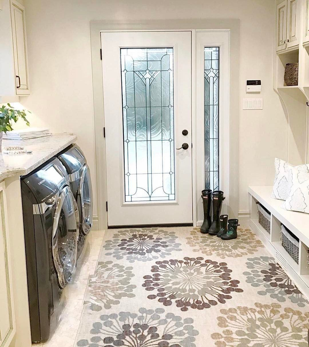 1 498 Likes 11 Comments Interior Design Amp Home Decor Inspire Me Home Decor On In Mudroom Laundry Room White Laundry Rooms Mud Room Laundry Room Combo